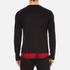 McQ Alexander McQueen Men's Recycled T-Shirt - Dark Black/Red Tartan: Image 3