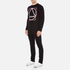 McQ Alexander McQueen Men's Abstract McQ Printed Long Sleeve Crew T-Shirt - Darkest Black: Image 4