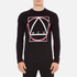 McQ Alexander McQueen Men's Abstract McQ Printed Long Sleeve Crew T-Shirt - Darkest Black: Image 1