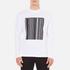 Alexander Wang Men's Barcode Logo Long Sleeve T-Shirt - White: Image 1