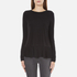 MICHAEL MICHAEL KORS Women's Solid Woven Pleat Top - Black: Image 1