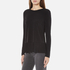 MICHAEL MICHAEL KORS Women's Solid Woven Pleat Top - Black: Image 2