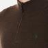 Polo Ralph Lauren Men's Half Zip Merino Knitted Jumper - Brown Marl: Image 5