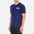 Lacoste L!ve Men's Large Logo Crew T-Shirt - Jazz/White/Navy Blue: Image 2