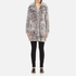 Karl Lagerfeld Women's Soft Curly Faux Fur Coat - Grey: Image 4