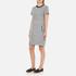 Karl Lagerfeld Women's Bonded Tweed Jersey Dress - Grey Melange: Image 2