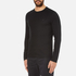 Michael Kors Men's Long Sleeve Sleek MK Crew Top - Black: Image 2
