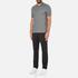 Michael Kors Men's Double Collar Zip Polo Shirt - Ash Melange: Image 4