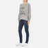 Wildfox Women's Like Button Kims Sweatshirt - Heather Vanilla Latte: Image 4