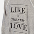 Wildfox Women's Like Button Kims Sweatshirt - Heather Vanilla Latte: Image 5