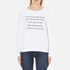 Wildfox Women's Day Off List Baggy Beach Sweatshirt - Cleanwhite: Image 1