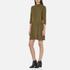 Ganni Women's Clark Dress - Dark Olive: Image 2