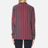 Ganni Women's Donaldson Silk Shirt - Cabernet Stripe: Image 3