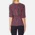 Ganni Women's Donaldson Silk Tie Blouse - Cabernet Stripe: Image 3