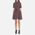 Ganni Women's Donaldson Silk Stripe Dress - Cabernet Stripe: Image 1