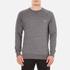 Maison Kitsuné Men's Tricolor Patch Sweatshirt - Grey Melange: Image 1
