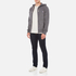 Maison Kitsuné Men's Tricolor Patch Zip Hoody - Black Melange: Image 4