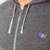Maison Kitsuné Men's Tricolor Patch Zip Hoody - Black Melange: Image 5