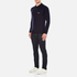 Maison Kitsuné Men's Virgin Wool Polo Shirt - Navy: Image 4