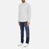 Selected Homme Men's Ludvig Long Sleeve Top - Light Grey Melange: Image 4