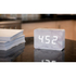 Gingko Brick Marble Click LED Clock - White: Image 3