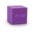 Gingko Gravity Cube Click Clock - Purple: Image 1