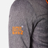 Superdry Men's Windtrekker Coat - Dark Grey Grit/Fluro Orange: Image 8