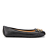 MICHAEL MICHAEL KORS Women's Fulton Leather Mocc Ballet Flats - Black: Image 1