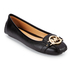 MICHAEL MICHAEL KORS Women's Fulton Leather Mocc Ballet Flats - Black: Image 2