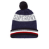 Superdry Men's Super Stripe Logo Beanie Hat - Navy Marl: Image 1