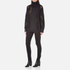 DKNY Women's Long Sleeve Oversized Turtleneck Thick/Thin Intarsia Jumper - Black: Image 4