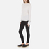 Helmut Lang Women's Long Sleeve Thumb Hole T-Shirt - White Melange: Image 4