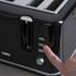 Tower T20010 4 Slice Toaster - Black: Image 4
