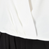 Paisie Women's Wrap Blouse with Pleated Neck - White: Image 6