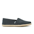 TOMS Men's Seasonal Classic Slip-On Pumps - Black Linen with Rope: Image 1