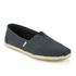 TOMS Men's Seasonal Classic Slip-On Pumps - Black Linen with Rope: Image 2