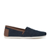 TOMS Men's Seasonal Classic Slip-On Pumps - Dark Denim with Trim: Image 1