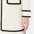 Boutique Moschino Women's Long Contrast Lightweight Coat - White: Image 6