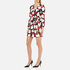 Boutique Moschino Women's Heart Print Wrap Around Dress - Multi: Image 4