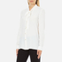 Boutique Moschino Women's Chic Shirt Tie Blouse with Pearl Buttons - White: Image 2
