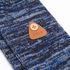 Folk Men's Flecked Single Socks - Navy Melange: Image 2