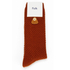 Folk Men's Single Socks - Rust: Image 3