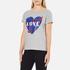 Love Moschino Women's Love Heart T-Shirt - Medium Grey: Image 2
