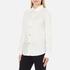 Love Moschino Women's Silver Heart Pendant Shirt - White: Image 2