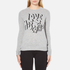 Love Moschino Women's Slogan Jumper - Grey Melange: Image 1