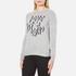 Love Moschino Women's Slogan Jumper - Grey Melange: Image 2
