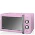 Swan SM22070PN 25L Retro Manual Microwave - Pink: Image 1