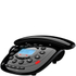 Idect CARRERACLASSICPLUS Corded Phone with Answer Machine - Black: Image 1