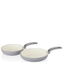 Swan Retro Frying Pans - Grey (20cm/28cm): Image 1