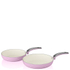 Swan Retro Frying Pans - Pink (20cm/28cm): Image 1